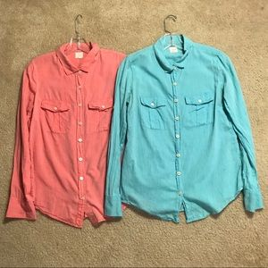TWO FOR ONE JCrew Button Down Shirts